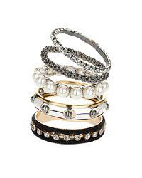 TOPSHOP | Metallic Pearl and Mesh Bracelet Pack | Lyst