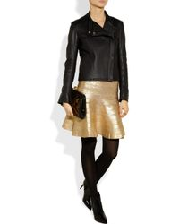 Hervé Léger - Metallic Coated Bandage Skirt - Lyst
