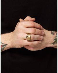 Fred Perry - Metallic Lovebullets Shot Target Ring for Men - Lyst