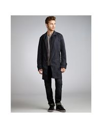 Prada - Blue Nylon Belted Trench for Men - Lyst