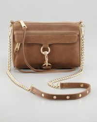 Rebecca Minkoff | Brown Mini Mac Crossbody Bag Taupe | Lyst