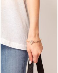 Wildfox - Metallic Skull Bracelet - Lyst