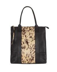 AllSaints Black Jackson Tote Bag