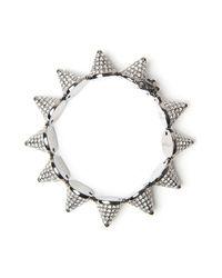 Eddie Borgo - Metallic Pave Cone Bracelet - Lyst
