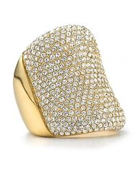 Michael Kors | Metallic Pave Concave Ring | Lyst