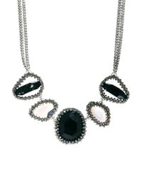 Paul Smith | Black Woven Five Stone Necklace | Lyst