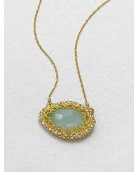 Alexis Bittar - Metallic Chalcedony Pendant Necklace - Lyst
