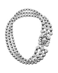 Bottega Veneta - Metallic Antiqued Sterling Silver Necklace - Lyst