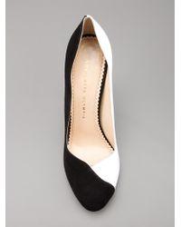 Charlotte Olympia Black Waverley Court Shoe