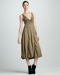 Donna Karan | Green Parachute Dress | Lyst