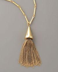 Eddie Borgo Metallic Cone Tassel Pendant