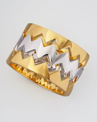 Eddie Borgo Metallic Beartrap Bangle Set