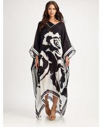 Emilio Pucci - Black Printed Silk Caftan - Lyst