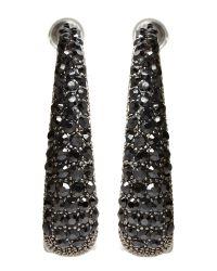Gemini Black Gemini Cluster Loop Crystal Earrings