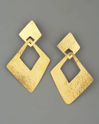 Herve Van Der Straeten | Metallic Angular Clip Earrings | Lyst
