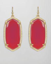 Kendra Scott | Elle Earrings Pink Agate | Lyst