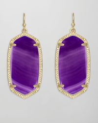 Kendra Scott - Elle Earrings Purple Agate - Lyst
