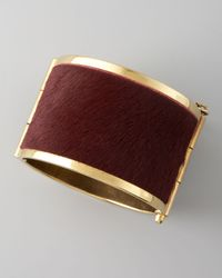 McQ | Brown Pony Hair Cuff  | Lyst