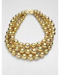 Michael Kors | Metallic Nested Bead Necklace | Lyst