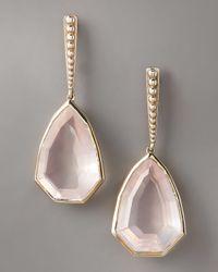 Stephen Dweck | Pink Freeform Rose Quartz Earrings | Lyst
