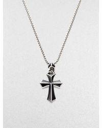 Stephen Webster | Black Silver/onyx Cross Pendant for Men | Lyst