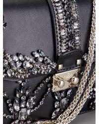 Valentino | Black Crystal Embellished Shoulder Bag | Lyst