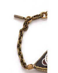 Vanessa Mooney Brown Evil Eye Bracelet