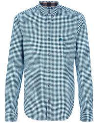 Burberry Brit Green Checked Print Shirt for men