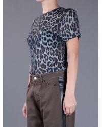 Christopher Kane   Blue Leopardprint Modaljersey Tshirt   Lyst