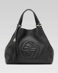 Gucci | Black Soho Medium Hobo Bag | Lyst