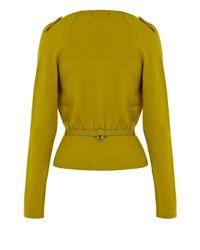 Karen Millen Green Draped Front Trenchcoat Cardigan