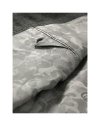 A Bathing Ape Gray Grey Wide Stripe British Three Piece Suit for men
