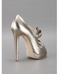 Oscar de la Renta   Gray Lanabow Sandal Pump   Lyst
