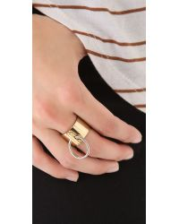 A.L.C.   Metallic Bondage Ring in Brass   Lyst
