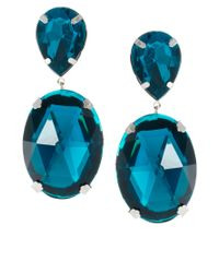 ASOS Blue Gem Drop Earrings
