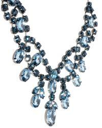 ASOS - Blue Premium Jewelled Bib Necklace - Lyst