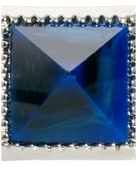 ASOS - Blue Asos Pyramid Stone Ring for Men - Lyst