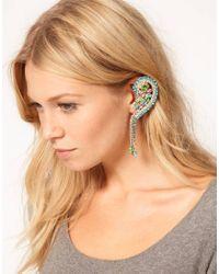 ASOS Multicolor Pastel Rainbow Ear Cuff