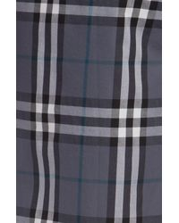 Burberry | Blue Checked Cotton Pajama Pants for Men | Lyst
