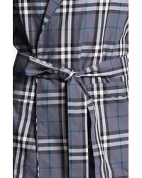 Burberry | Gray Check Robe for Men | Lyst