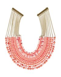 Rosantica | Pink Raissa Golddipped Coral Necklace | Lyst