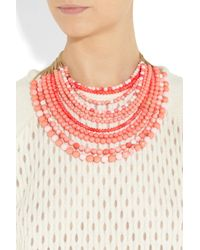 Rosantica - Pink Raissa Golddipped Coral Necklace - Lyst