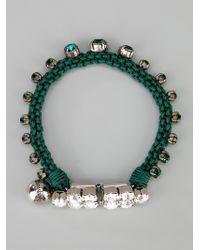 Shourouk - Green Barak Bracelet - Lyst