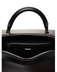 The Row Black Bowler Leather Tote Bag
