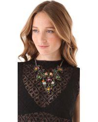 Erickson Beamon - Multicolor Crystal Bib Necklace - Lyst