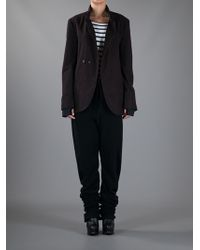 Individual Sentiments Brown Deconstructed Tailored Jacket
