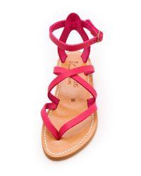 K. Jacques - Pink Epicure Crisscross Sandals - Lyst