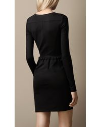 Burberry Brit Black Frill Detail Dress