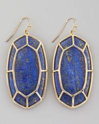 Kendra Scott | Metallic Framed Cabochon Earrings Lapis Lazuli | Lyst