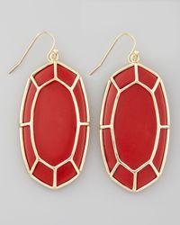 Kendra Scott - Framed Cabochon Earrings Red Magnesite - Lyst